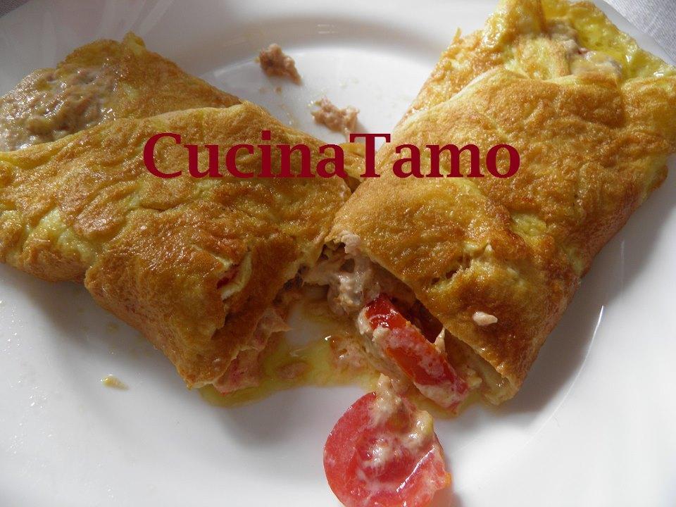 Omelette tonno e pomodoro