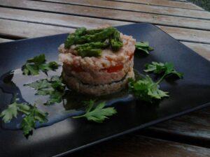 tartare, salmone